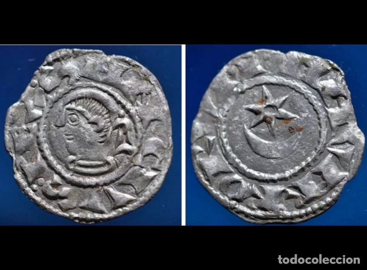 Monedas medievales: Sancho Vll El Fuerte ( 1194-1234) Navarra Navarrorvm variante rarísima luna maciza - Foto 6 - 150414333