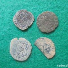 Monedas medievales: LOTE DE MONEDAS DEL REINO DE NAVARRA, UNA MUY CURIOSA RESELLADA EN SEVILLA. Lote 253135570