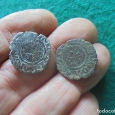 Monedas medievales: LOTE DE DOS MONEDAS DEL REINO DE NAVARRA , ADMITEN MAS LIMPIEZA. Lote 257950430