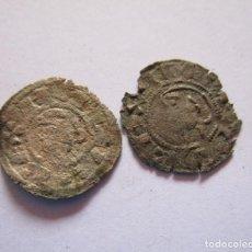 Monedas medievales: ALFONSO I DE ARAGON. LOTE DE DOS BONITOS DINEROS. Lote 260331780