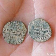 Monedas medievales: LOTE 2 DINEROS NAVARRA ENRIQUE II BEAR. Lote 269002154