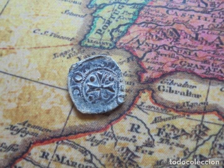 BONITA BLANCA DEL REINO DE NAVARRA ,CON CURIOSO ERROR DE ACUÑACION (Numismática - Medievales - Navarra)