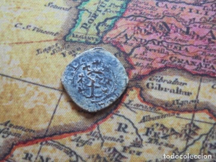 Monedas medievales: Bonita blanca del reino de Navarra ,con curioso error de acuñacion - Foto 2 - 278508358