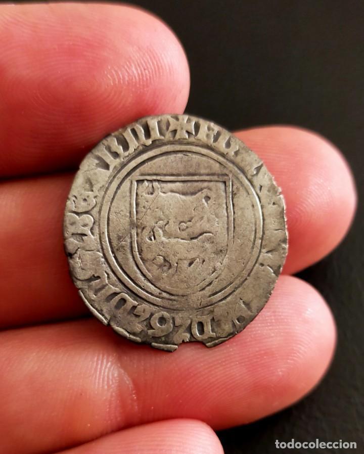Monedas medievales: Blanca de Vellón rico .FRANCISCO FEBO 1479-1483. BEARN. ¡ Muy rara! - Foto 2 - 282232143