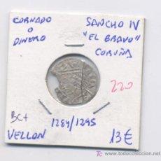 Monedas medievales: SANCHO IV- EL BRAVO- CORNADO- CORUÑA. Lote 6304587