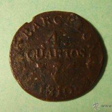 Monedas medievales: CUATRO CUARTOS 1810. Lote 43424704
