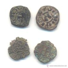 Monedas medievales: 4- LOTE DE CUATRO PIEZAS DIVERSAS A CLASIFICAR. CRUZ DE JERUSALÉN ÉPOCA CRUZADAS. Lote 46873954