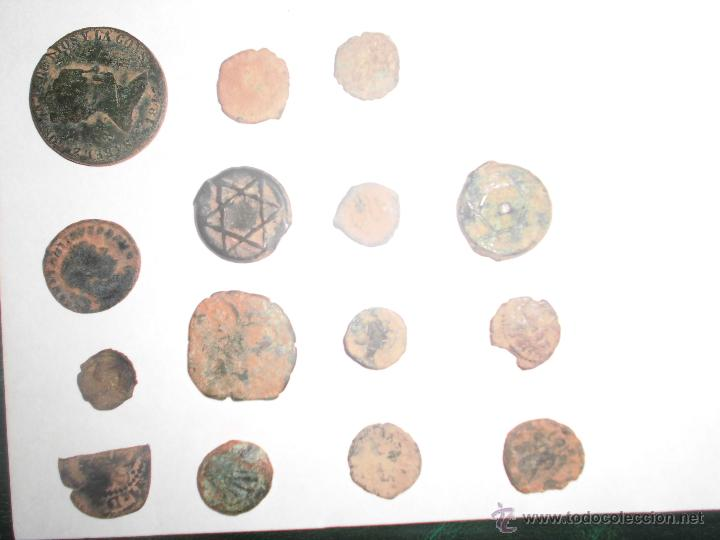 LOTE ANTIGUAS MONEDAS (Numismática - Hispania Antigua- Medievales - Otros)