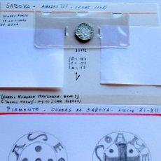 Monedas medievales: SABOYA - DENARO FORTE - PLATA. Lote 58776206