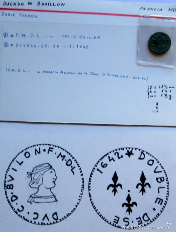 FRANCIA - BOUILLON - DOBLE TRONESA (Numismática - Hispania Antigua- Medievales - Otros)
