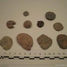 Monedas medievales: LOTE DE 10 FITXAS O MONEDAS DE PLOMO (PLOMOS MONETIFORMES). ÉPOCAS ROMANA, IBÉRICA HASTA MEDIEVAL.. Lote 60010943