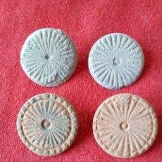 Monedas medievales: LOTE 4 BOTONES DE BRONCE VISIGODOS. Lote 66001115