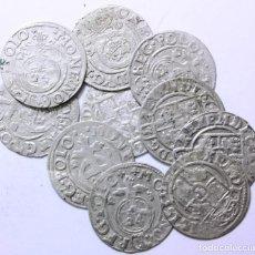 Monedas medievales: TESORILLO DE 10 MONEDAS MEDIEVALES DE PLATA A IDENTIFICAR. TODAS EN MBC. Lote 68397017