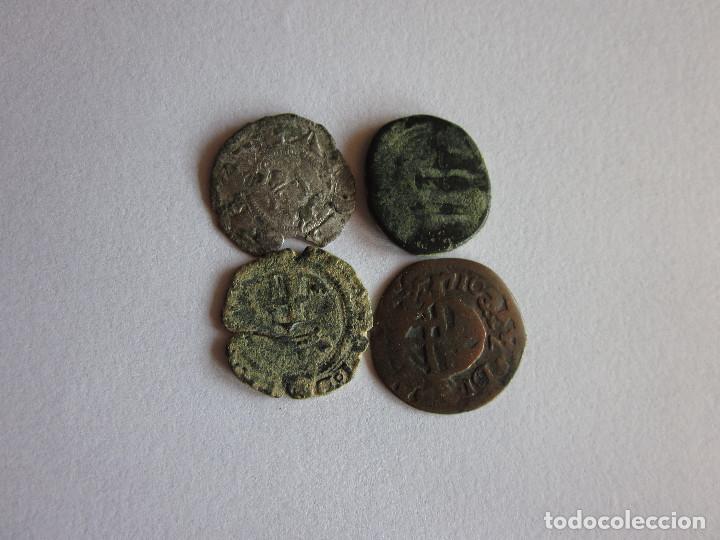 4 MONEDAS DE DIFERENTES ÉPOCAS. (Numismática - Hispania Antigua- Medievales - Otros)