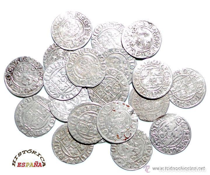 Monedas medievales: LOTE DE 20 MONEDAS MEDIEVALES POLACAS EXCELENTE CONSERVACIÓN, ORIGINALES - Foto 2 - 80094849