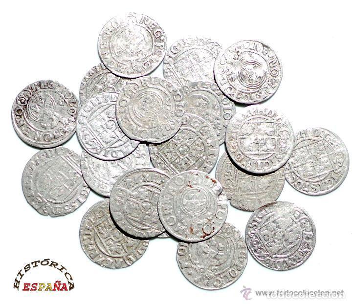 Monedas medievales: LOTE DE 20 MONEDAS MEDIEVALES POLACAS EXCELENTE CONSERVACIÓN, ORIGINALES - Foto 3 - 80094849