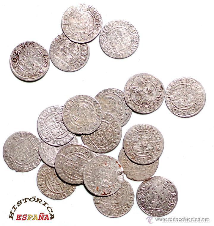 Monedas medievales: LOTE DE 20 MONEDAS MEDIEVALES POLACAS EXCELENTE CONSERVACIÓN, ORIGINALES - Foto 4 - 80094849