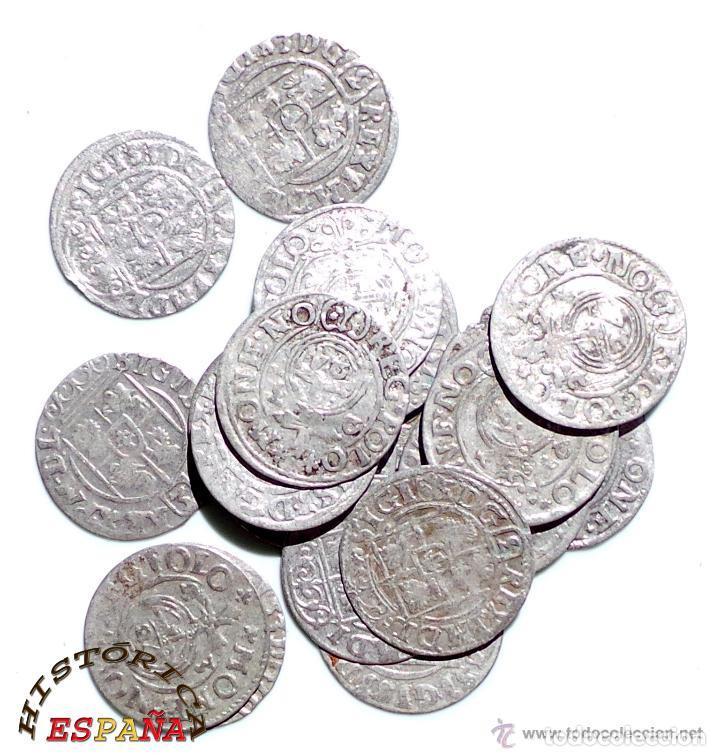 Monedas medievales: LOTE DE 20 MONEDAS MEDIEVALES POLACAS EXCELENTE CONSERVACIÓN, ORIGINALES - Foto 5 - 80094849