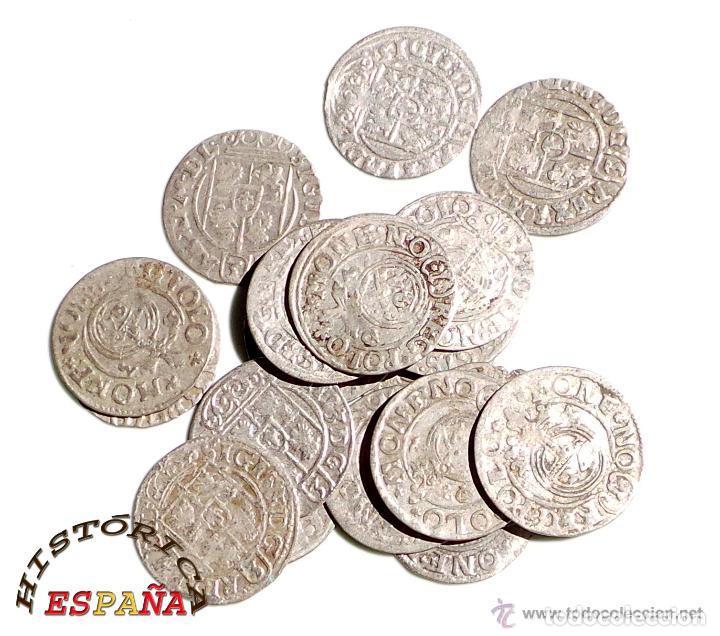 Monedas medievales: LOTE DE 20 MONEDAS MEDIEVALES POLACAS EXCELENTE CONSERVACIÓN, ORIGINALES - Foto 6 - 80094849