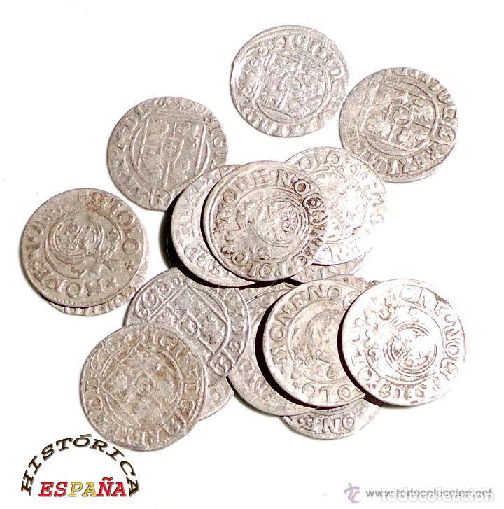 Monedas medievales: LOTE DE 20 MONEDAS MEDIEVALES POLACAS EXCELENTE CONSERVACIÓN, ORIGINALES - Foto 7 - 80094849