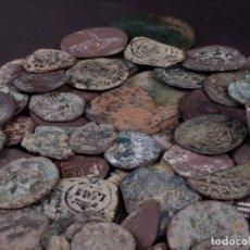 Monedas medievales: LOTE 3 DE 50 MONEDAS ANTIGUAS SIN CLASIFICAR. Lote 86260332