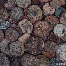 Monedas medievales: LOTE 5 DE 50 MONEDAS ANTIGUAS SIN CLASIFICAR. Lote 93800757