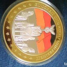 Monedas medievales: EXCEPCIONAL MONEDA CONMEMORATIVA 10 AÑOS DESDE LA DESPEDIDA DEL MARCO ALEMÁN.. Lote 95361391