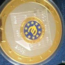 Monedas medievales: EXCELENTE MONEDA DE 10 AÑOS DEL EURO BAÑO DE ORO Y PLATA.. Lote 95367399
