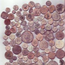 Monedas medievales: LOTE DE 118 MONEDAS MEDIEVALES, ESPAÑOLAS, ARABES Y ALGUNA ROMANA - MBC / BC. Lote 95714087