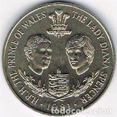 Monedas medievales: H.R.H. THE PRINCE OF WALES THE LADY DIANA SPENCER AÑO 1981.. Lote 96935971