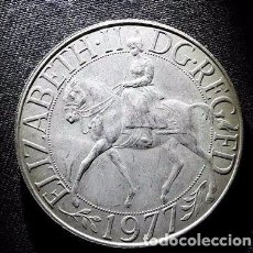 Monedas medievales: 1977 MONEDA DE LA REINA ELIZABETH II. CONMEMORATIVA , CORONA.. Lote 96936615