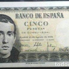 Monedas medievales: 5 PESETAS 1951 JAIME BALMES SERIE 1F EBC+. Lote 97883175