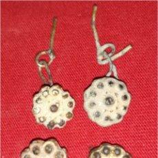 Monedas medievales: LOTE 4 BOTONES MEDIEVALES BAÑO DE ORO. Lote 75658543