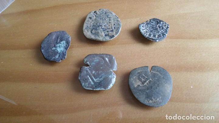 Monedas medievales: LOTE DE RESELLOS MONEDA PIRATA. lote 1 - Foto 2 - 116396336