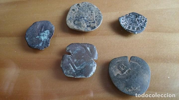 Monedas medievales: LOTE DE RESELLOS MONEDA PIRATA. lote 1 - Foto 3 - 116396336