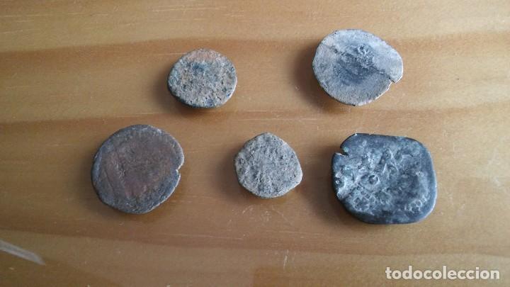 LOTE DE RESELLOS MONEDA PIRATA. LOTE 4 (Numismática - Hispania Antigua- Medievales - Otros)