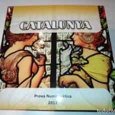 Monedas medievales: CARTERA/EUROSET DE CATALUÑA 2017 PRUEBAS DE LAS MONEDAS CATALANAS. Lote 107384799