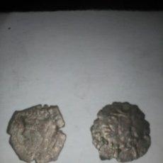 Monedas medievales: DOS MONEDAS MEDIEVALES DE VELLÓN,CON SU PLATA INTACTA A IDENTIFICAR.MIRAD Y LEED!!!. Lote 108063599