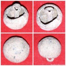 Monedas medievales: BOTON MEDIEVAL DE BRONCE ABOVEDADO MUY RARO. Lote 110079959