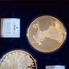 Monedas medievales: REPLICA MONEDA 20 DOLARES EEUUDE 1907 INDIAN HEAD Y 1933 GOLD DOUBLE EAGLE. Lote 116717375