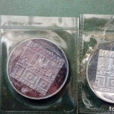 Monedas medievales: 2 MONEDA PLATA CONMEMORATIVA OLIMPIADAS DE INVIERNOS 1976 100 CHILLING. Lote 116832335