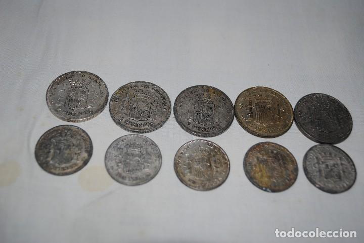 Monedas medievales: LOTE DE MONEDAS DE 2 PESETAS . - Foto 2 - 117568999