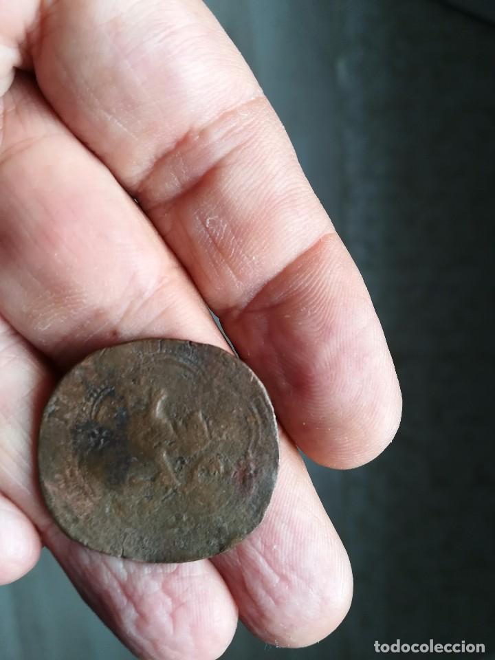 Monedas medievales: BONITO RESELLO MEDIEVAL 4. BLANCA REYES CATÓLICOS. - Foto 2 - 119646407