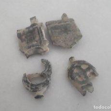 Monedas medievales: LOTE MEDIEVAL DOS ESCUDOS Y DOS CONTERAS.....SALIDA 9,99 EUROS.. Lote 130199955