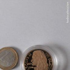 Monedas medievales: REPRODUCCION MONEDA DE PLATA 999 BAÑADA EN ORO,CAROLVS II,DEI GRATIA 1665-1700, NUEVA. Lote 130278526