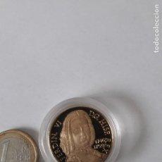 Monedas medievales: REPRODUCCION MONEDA DE PLATA 999 BAÑADA EN ORO,FERDIN VI D.G.HISP REX 1746-1759, NUEVA. Lote 130279366