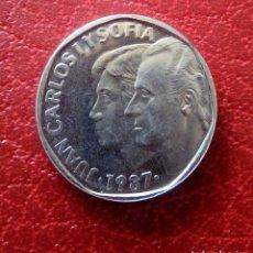 Monedas medievales: PRUEBA NUMISMÁTICA 1987 REY JUAN CARLOS Y DOÑA SOFIA. Lote 130619770