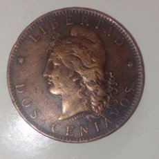 Monedas medievales: 2 MONEDA 2 CENTAVOS 1891 1890 ARGENTINA. Lote 131350770