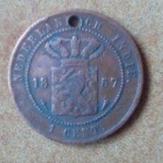 Monedas medievales: MONEDA MUY RARA 1 CENTIMO HOLANDA INDIA 1857. Lote 131607726