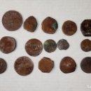 Monedas medievales: MONEDAS ESPAÑOLAS MUY ANTIGUAS UNAS TIENE FECHA 1697. Lote 131613190